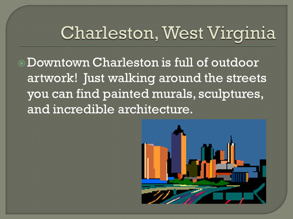  Downtown Charleston is full of outdoor artwork.