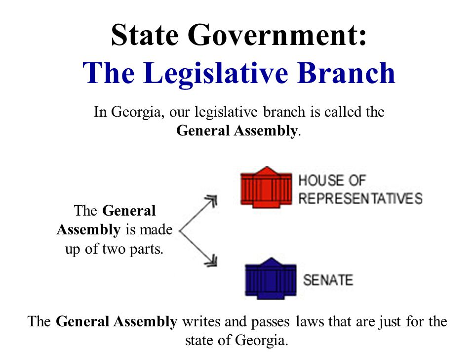 State Government: The Executive Branch The leader of the state executive branch is the Governor. In Georgia, our leader is Governor Sonny Perdue. He d