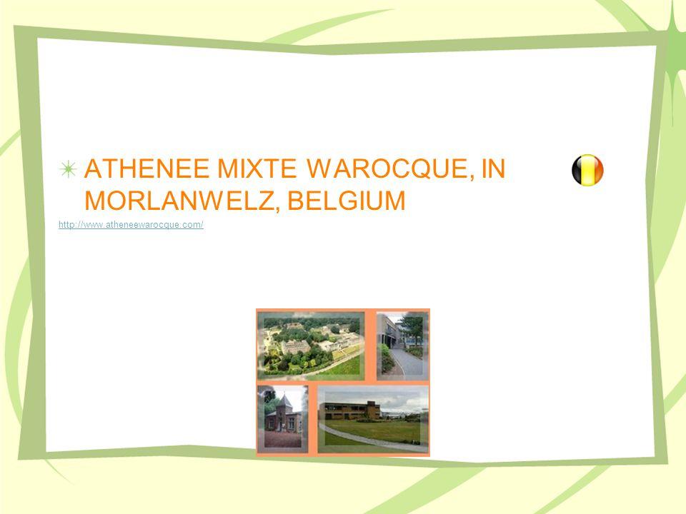 ATHENEE MIXTE WAROCQUE, IN MORLANWELZ, BELGIUM http://www.atheneewarocque.com/