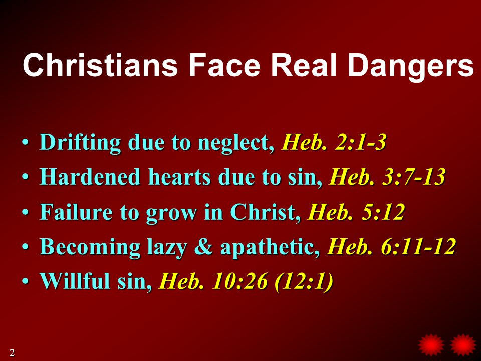 Pay Close Attention.(Heb. 2:1) No escape if we neglect our salvation in Christ, Heb.