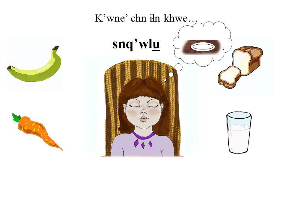 K'wne' chn iłn khwe… snq'wlu