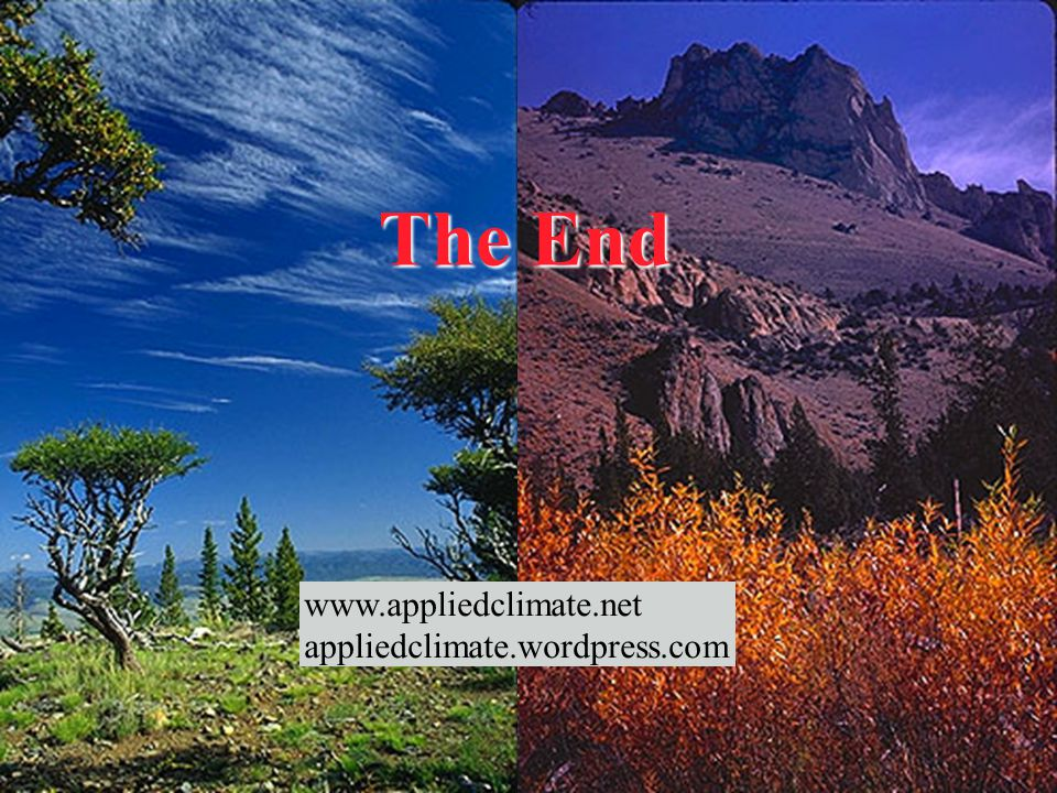 The End   appliedclimate.wordpress.com