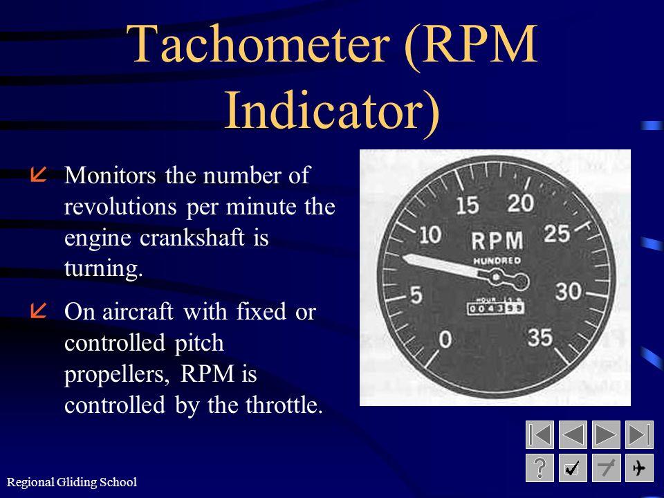 Regional Gliding School Carburetor Air Temperature Gauge åEnables pilot to monitor the temperature of intake air or air/fuel mixture into the carburet