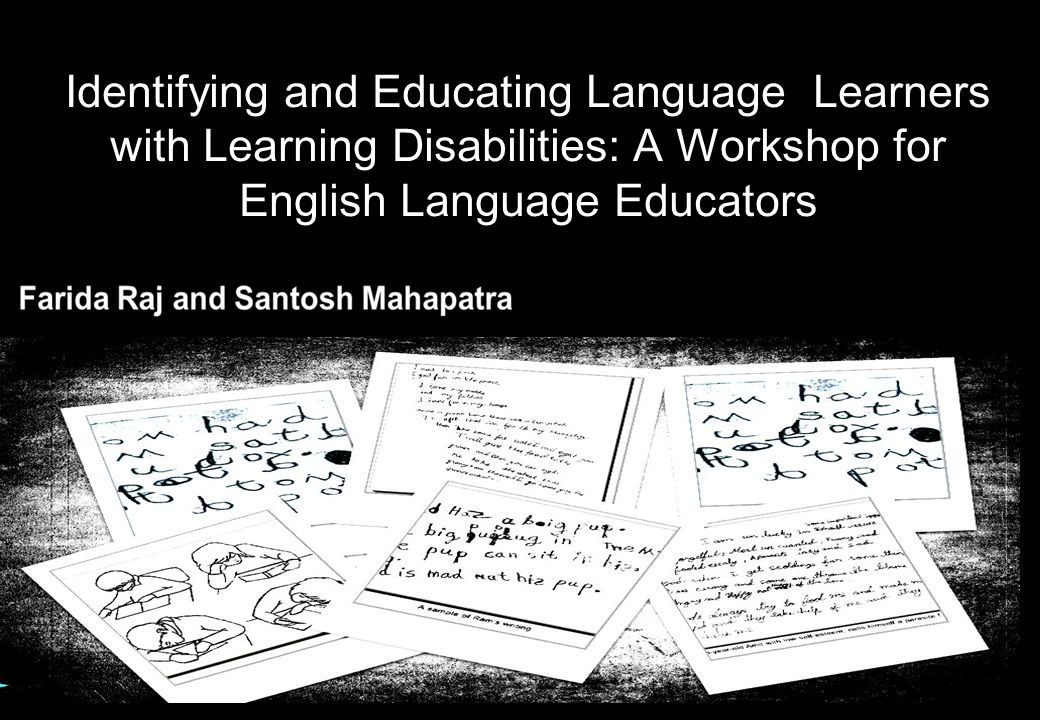Identifying and Educating Language Learners with Learning Disabilities: A Workshop for English Language Educators