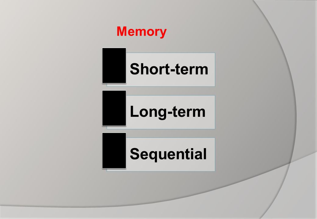 Memory Short-term Long-term Sequential