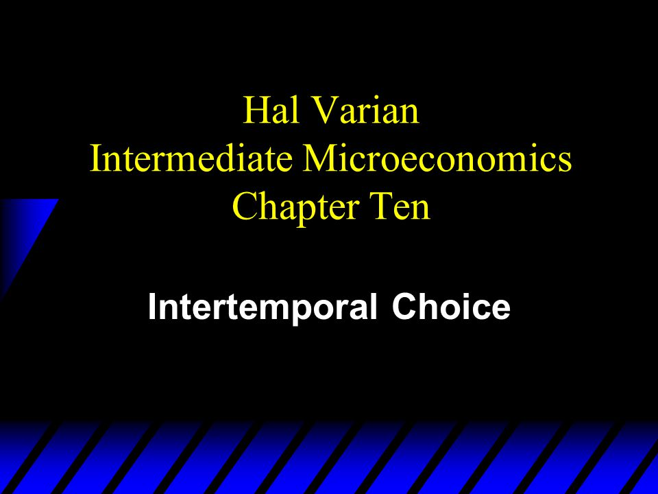 The Intertemporal Budget Constraint u Only $m 2 will be available in period 2 to pay back $b 1 borrowed in period 1.
