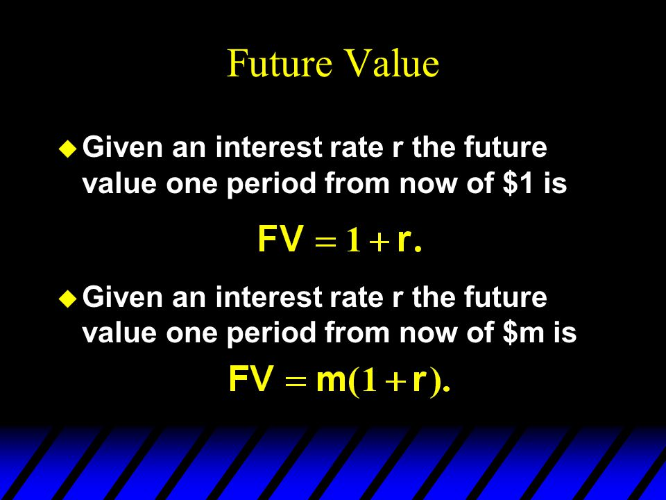 Intertemporal Choice rearranged is This is the future-valued form of the budget constraint since all terms are expressed in period 2 values.