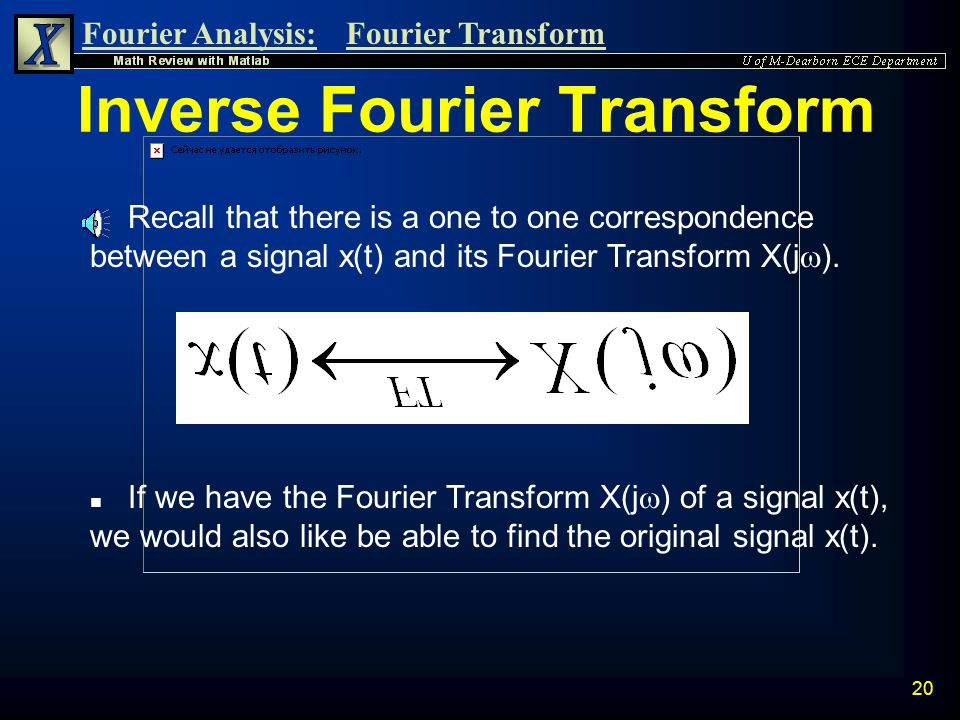 Fourier Analysis:Fourier Transform 19 Phase Response n We can now plot the Phase Response.