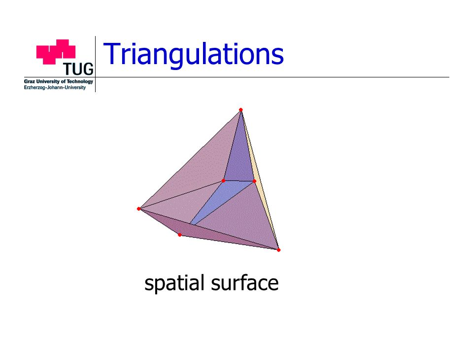 Triangulations spatial surface