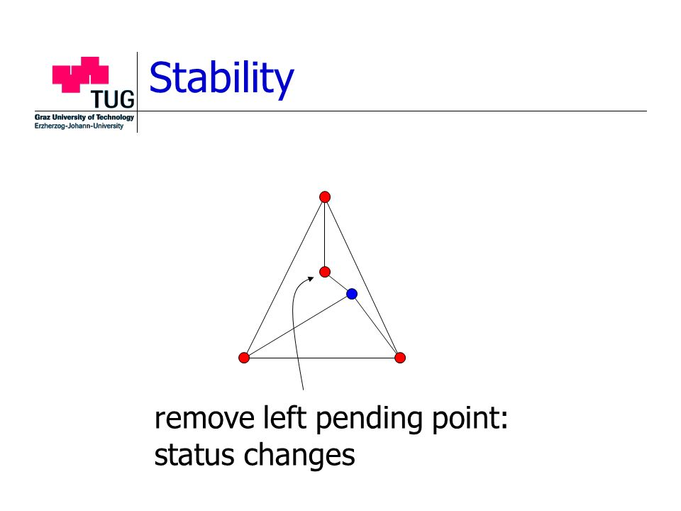 Stability remove left pending point: status changes