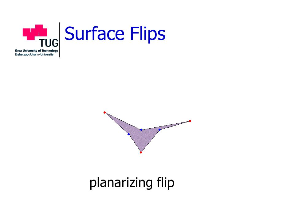 Surface Flips planarizing flip