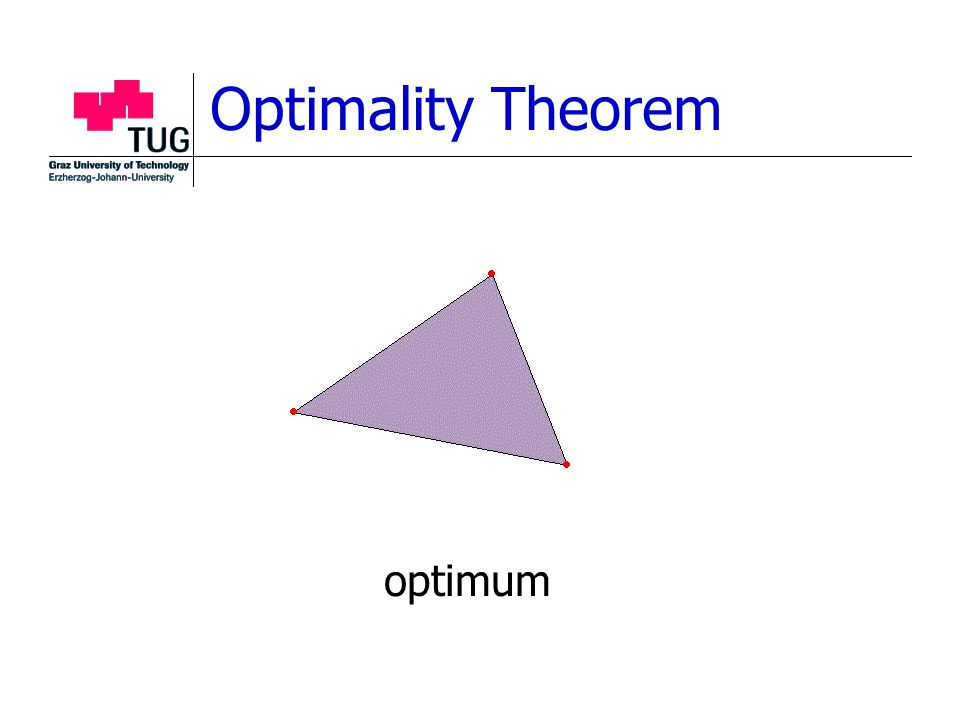 Optimality Theorem optimum