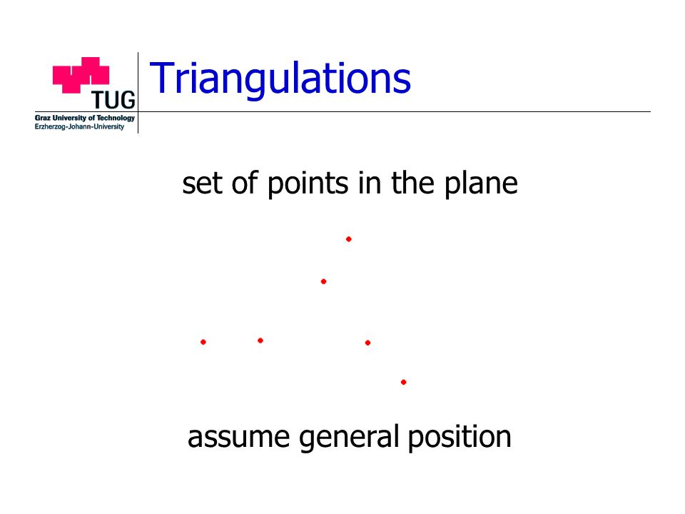 Triangulations set of points in the plane assume general position