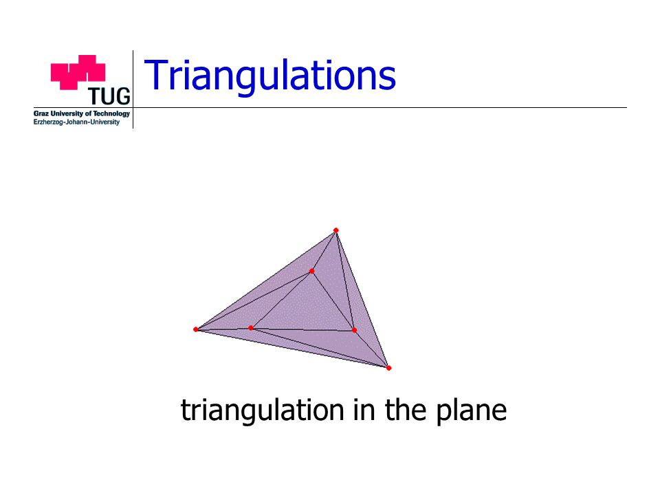 Triangulations triangulation in the plane