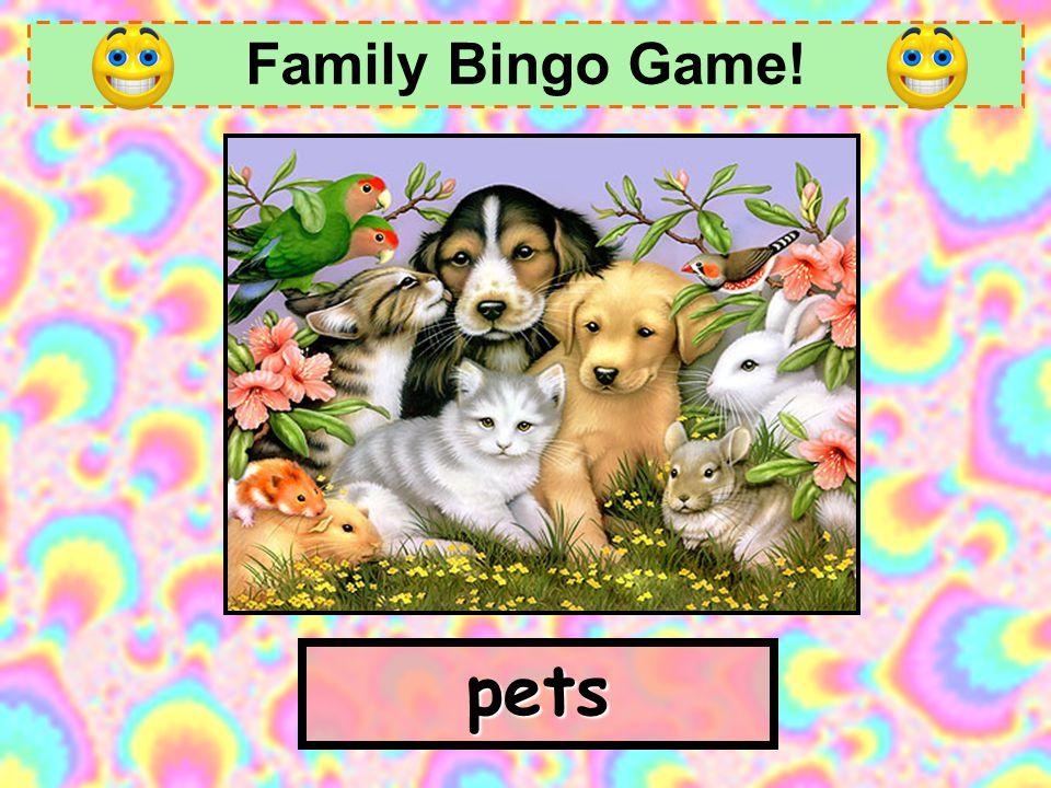 Family Bingo Game! grandmother