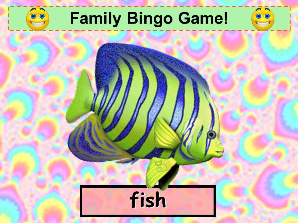 Family Bingo Game! childrenfriends