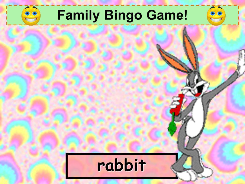 Family Bingo Game! father