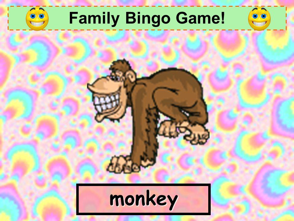 Family Bingo Game! l _ _ _ love