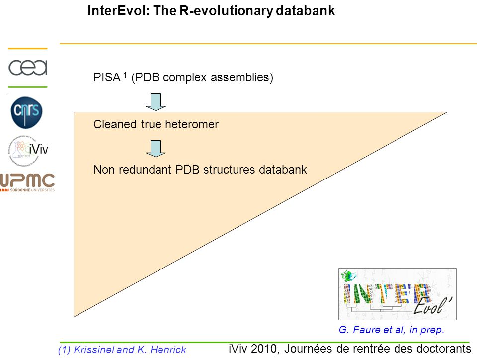 iViv 2010, Journées de rentrée des doctorants InterEvol: The R-evolutionary databank G.