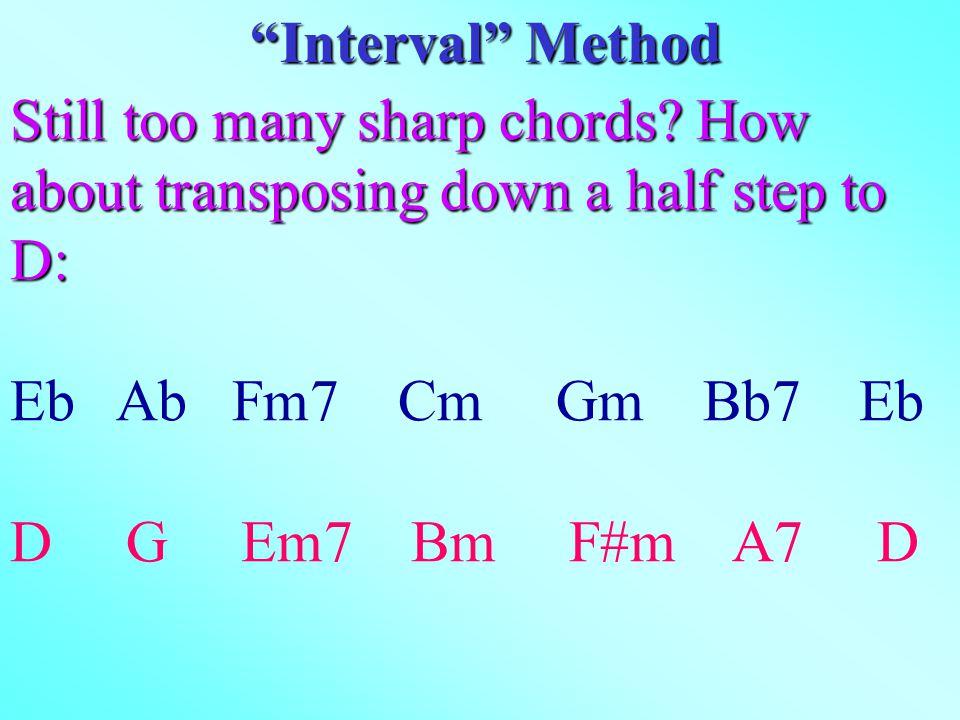 Still too many sharp chords.
