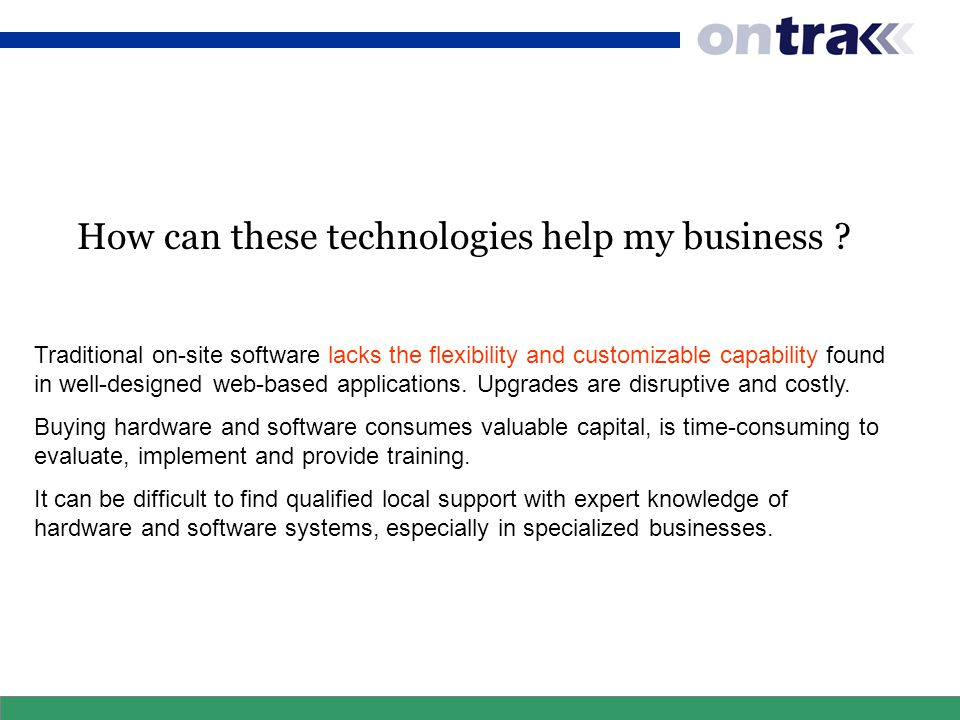 How can these technologies help my business .
