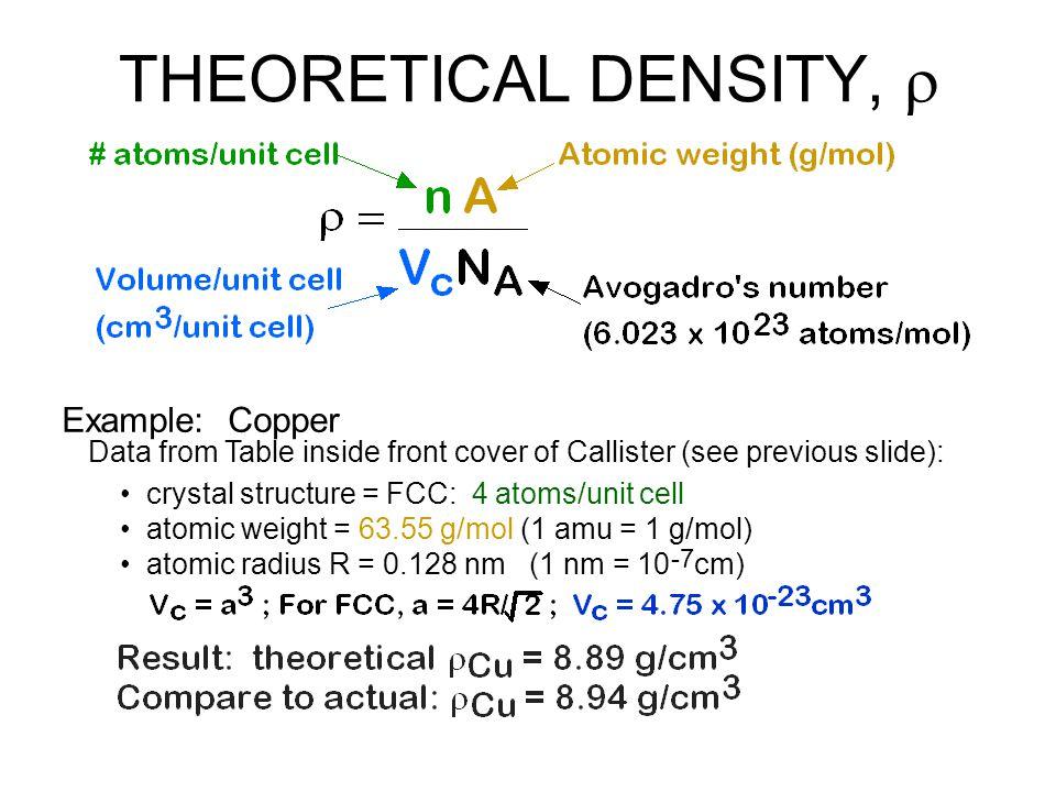 Why.Metals have... close-packing (metallic bonding) large atomic mass Ceramics have...