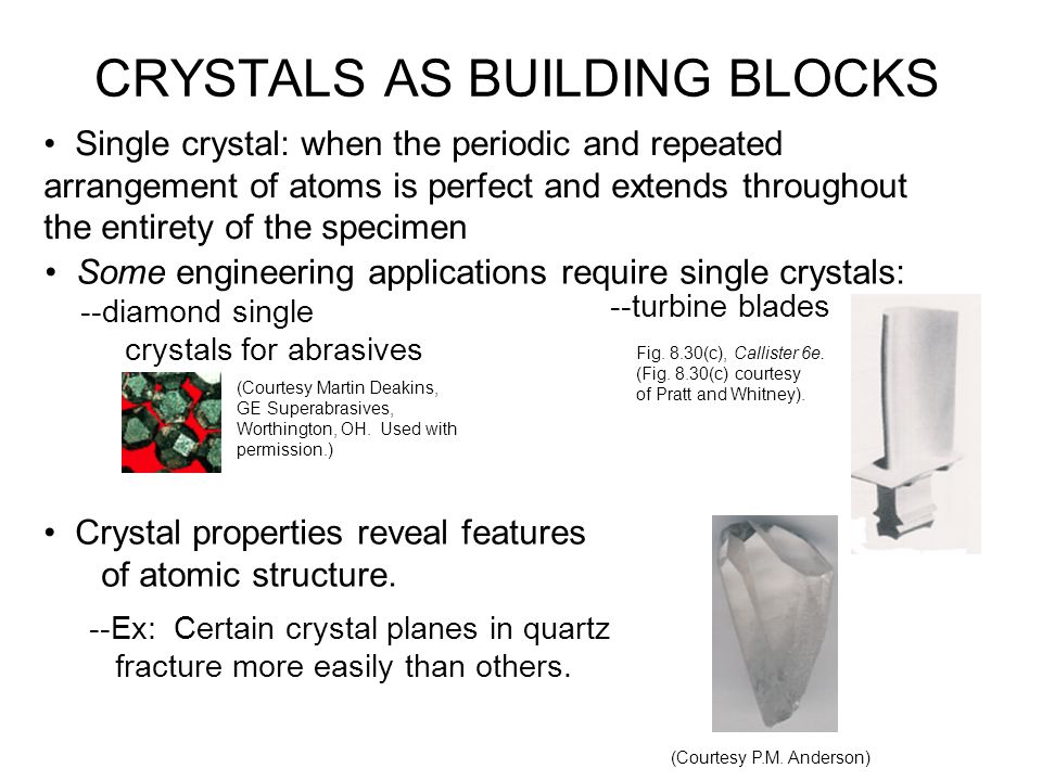 POLYCRYSTALLINE MATERIALS Nuclei form during solidification, each of which grows into crystals
