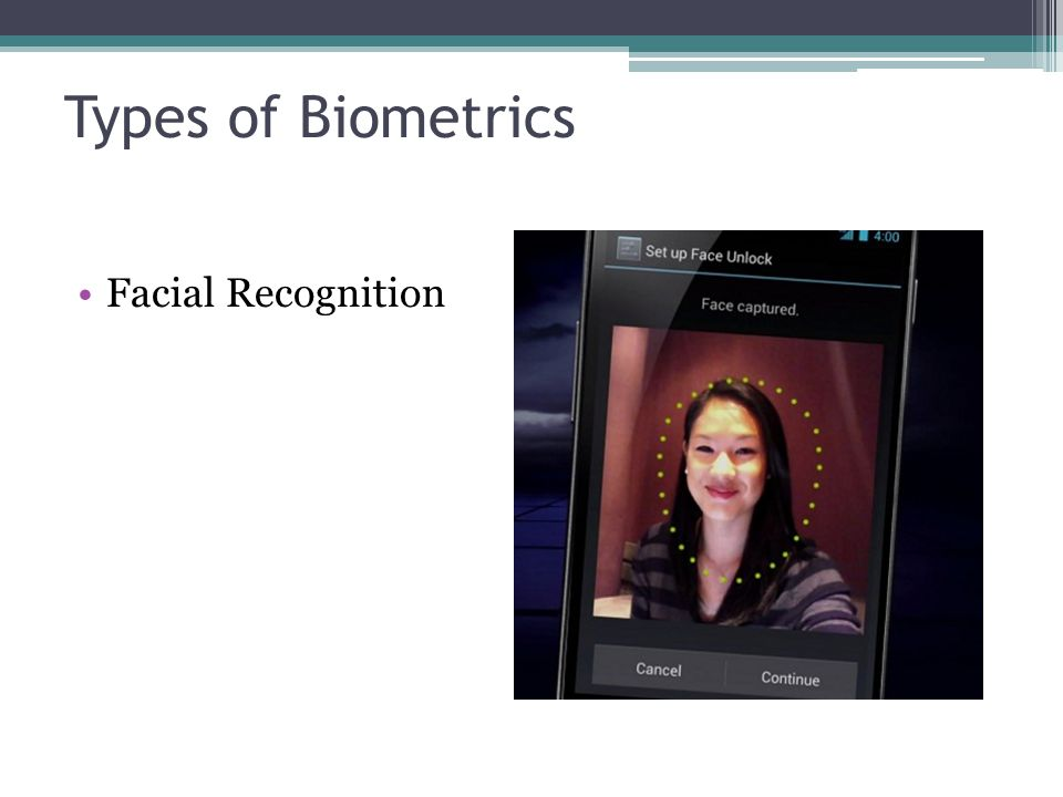Types of Biometrics Facial Recognition