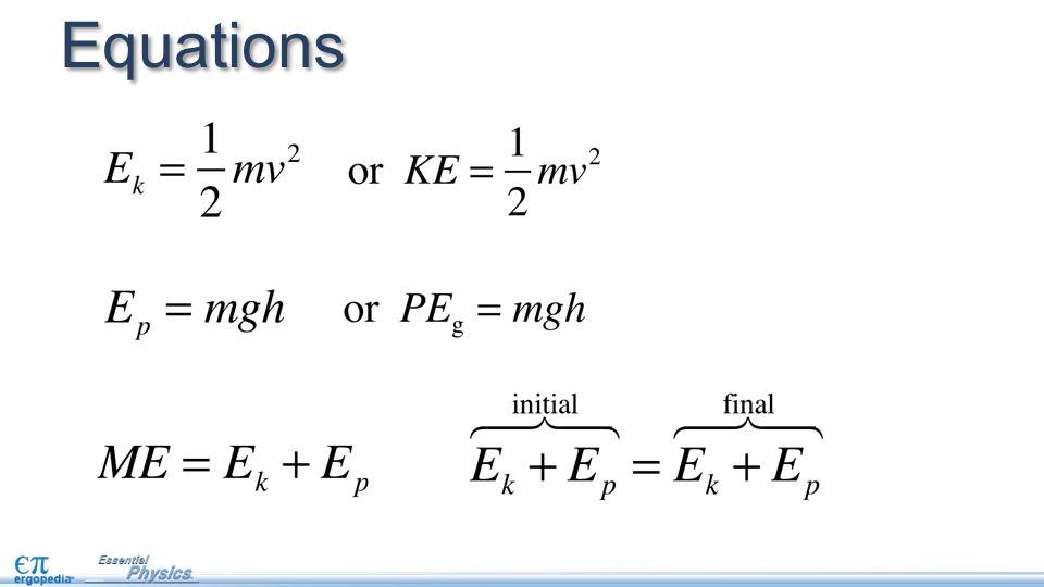 Rearranged Kinetic Energy Equations