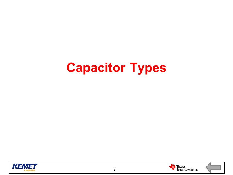 Capacitor Types 3