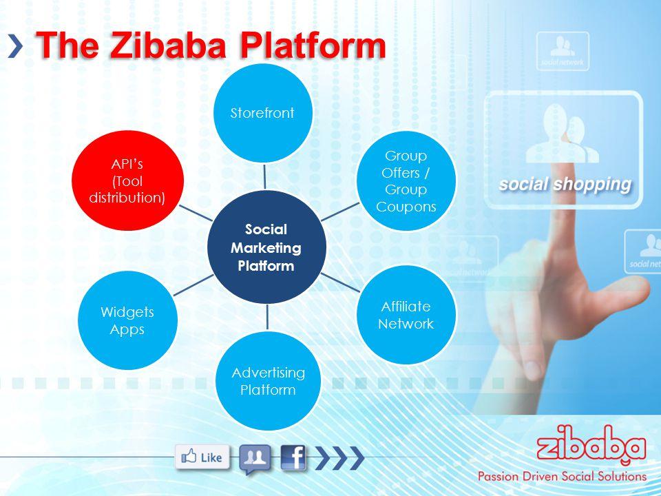 The Zibaba Platform Social Marketing Platform Storefront Group Offers / Group Coupons Affiliate Network Advertising Platform Widgets Apps API's (Tool distribution)