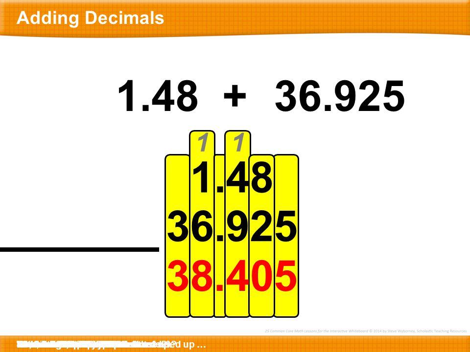 Closing Question Adding Decimals