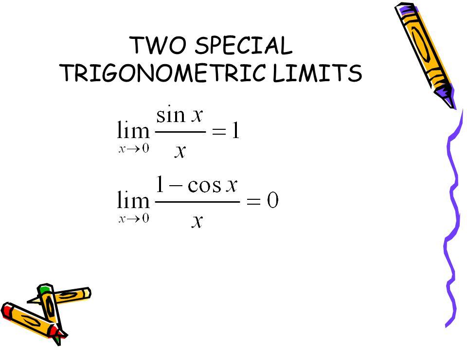 TWO SPECIAL TRIGONOMETRIC LIMITS