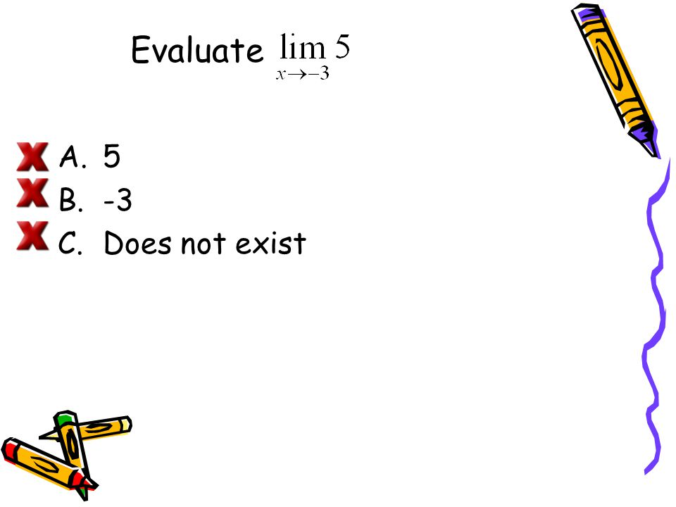 A Strategy for Finding Limits Learn to recognize which limits can be evaluated by direct substitution.