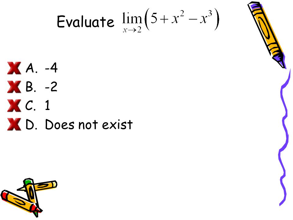 Limits of Polynomial and Rational Functions If p is a polynomial function and c is a real number, then.
