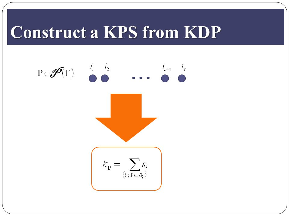 Construct a KPS from KDP P