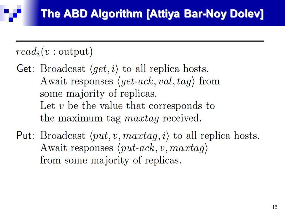 16 The ABD Algorithm [Attiya Bar-Noy Dolev]