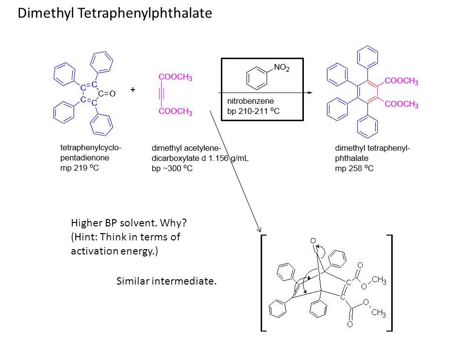 Triptycene 400 mg anthracene 0.4 mL isoamyl nitrite 4 mL glyme (1,2-dimethoxyethane) Rxn Tube 1 – w/ boiling chip 520 mg anthranilic acid 2 mL glyme (1,2-dimethoxyethane) Rxn Tube 2 1.Add contents of tube 2 into tube 1 dropwise over 20-minute period through a septum.