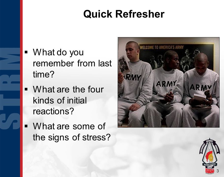 3 Quick Refresher  What do you remember from last time.