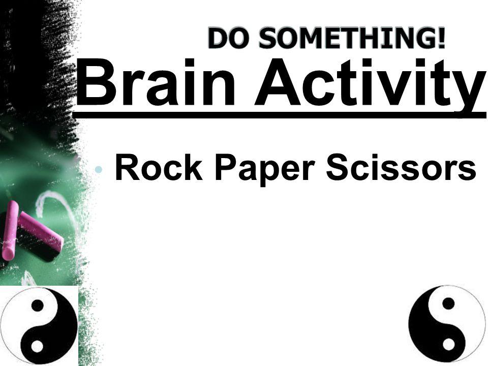 Rock Paper Scissors Brain Activity