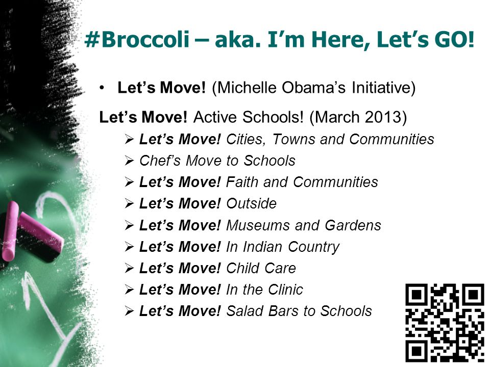 #Broccoli – aka. I'm Here, Let's GO. Let's Move.