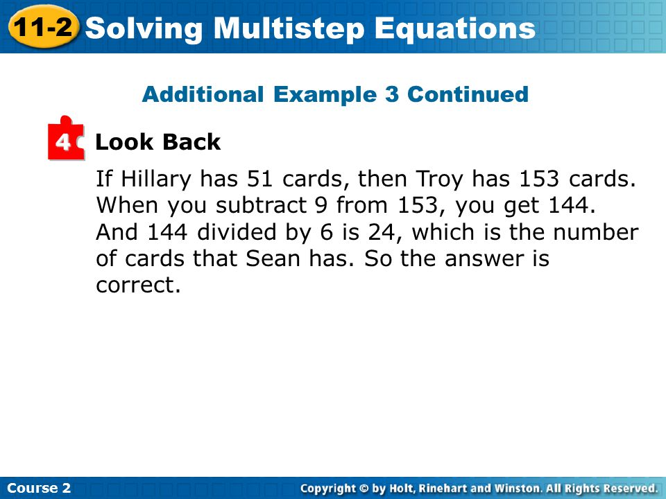 Look Back 4 If Hillary has 51 cards, then Troy has 153 cards.