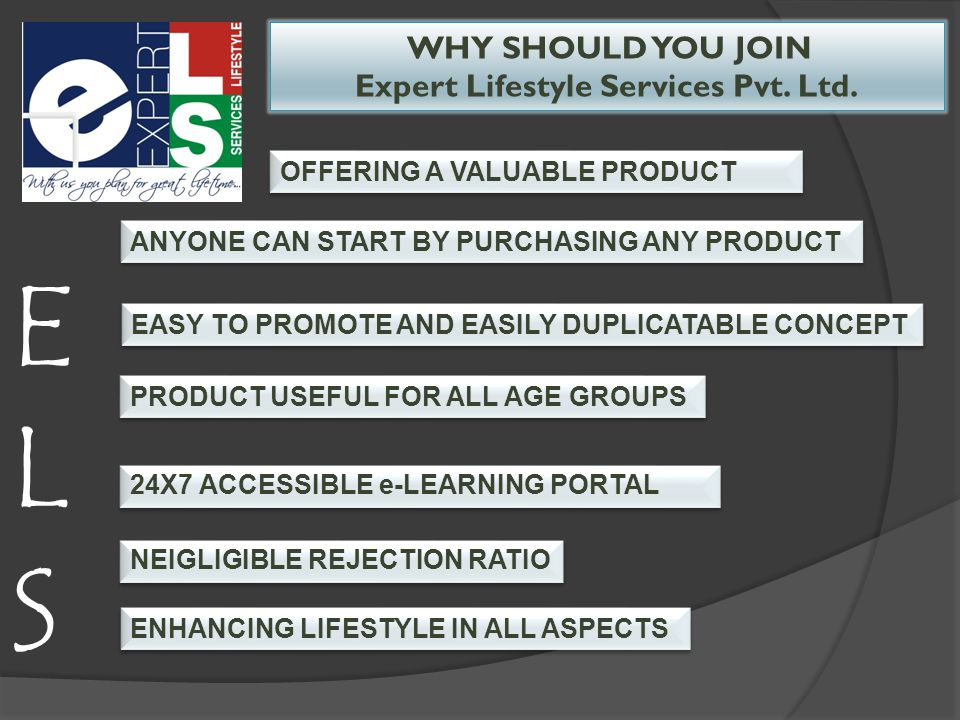 WHY SHOULD YOU JOIN Expert Lifestyle Services Pvt.