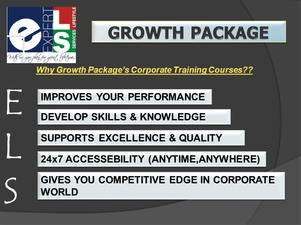 ELSELS Why Growth Package's Corporate Training Courses .