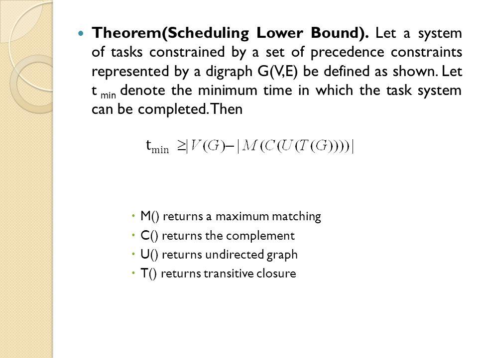 Theorem(Scheduling Lower Bound).