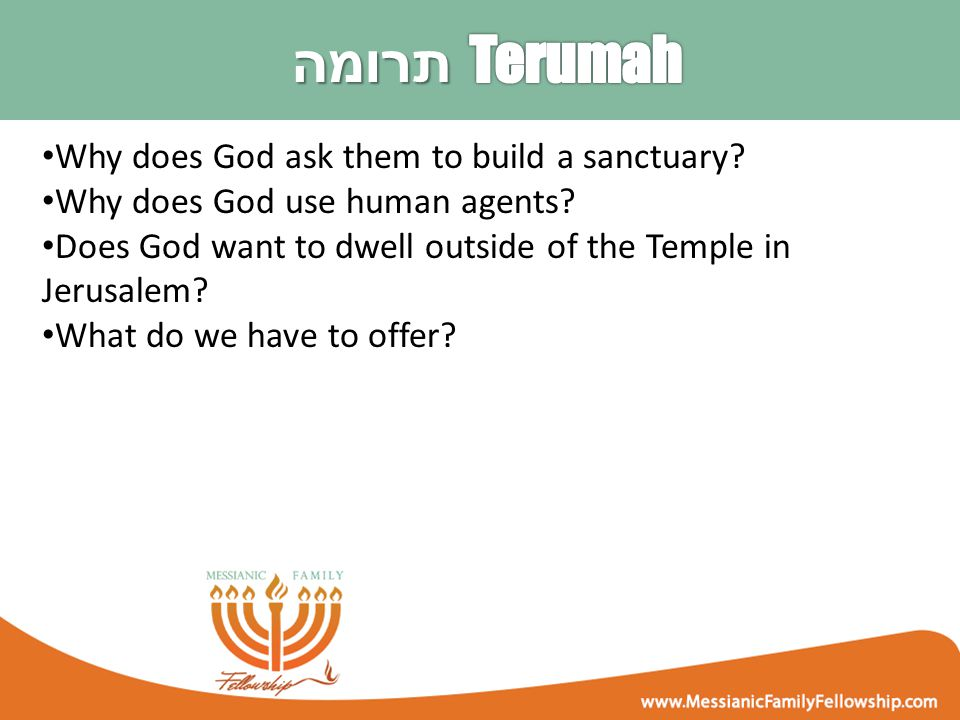 Why does God ask them to build a sanctuary. Why does God use human agents.