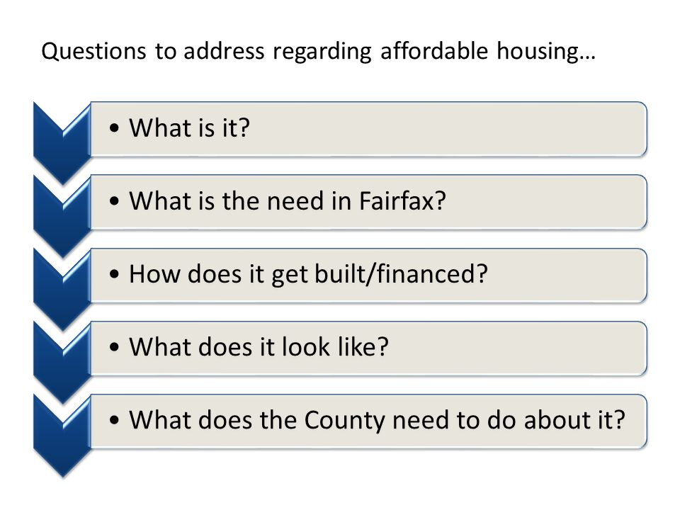 Questions to address regarding affordable housing… What is it.