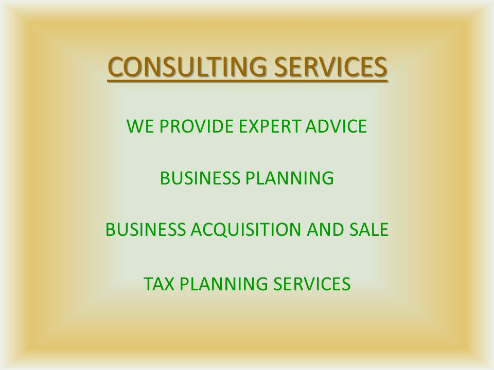 COMPILATION/BOOKKEEPING SERVICES WE CAN DO THE RECORD KEEPING FOR YOU BANK RECONCILIATIONS MAINTAIN FIXED ASSETS & DEPRECIATION RECORDS FINANCIAL STATEMENTS PREPARED