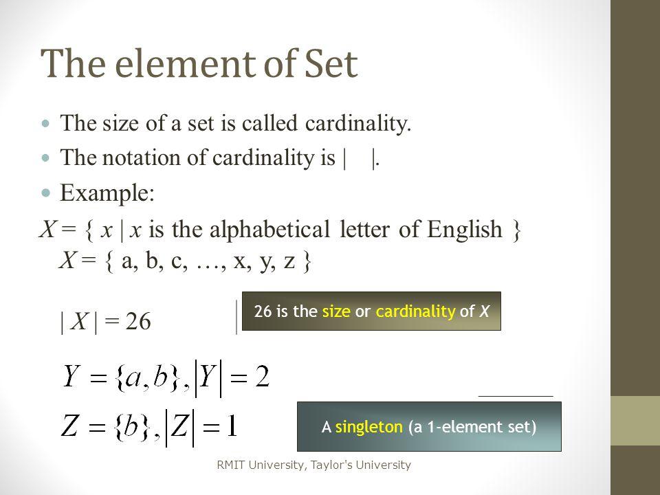RMIT University, Taylor s University Relations on Sets Let X, Y be sets.
