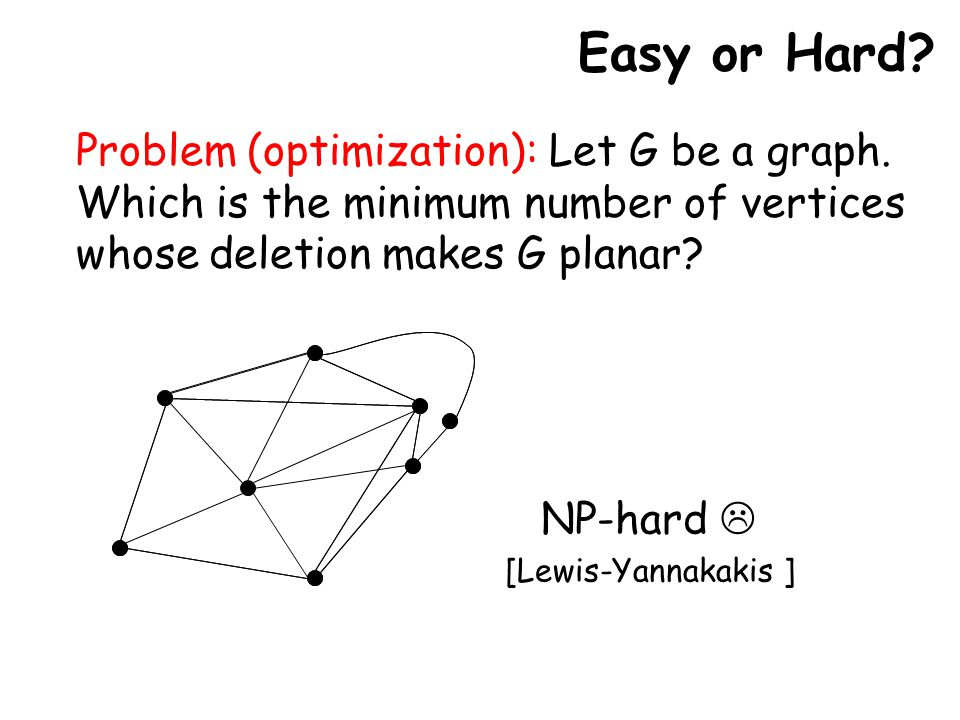 Problem (optimization): Let G be a graph.